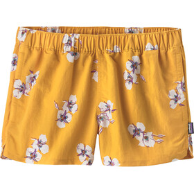 Patagonia W's Barely Baggies Shorts Mariposa Lily: Rugby Yellow